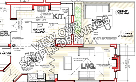 irish-house-plans-extension-layout1 CAD Drawings architects design